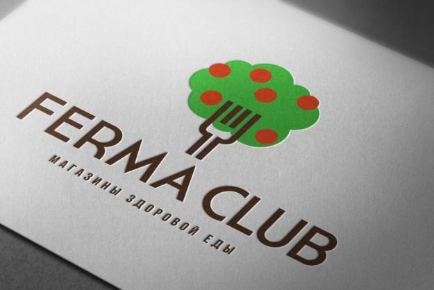 Объем знака4 Новый логотип Ferma Club Новый логотип Ferma Club                      4