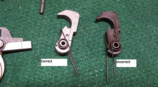 Assembling an AR Lower – Step 6 of 11:  Installing the Hammer Assembly