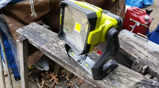 Ryobi P721 Hybrid 20 Watt LED Work Light is Fantastic!!