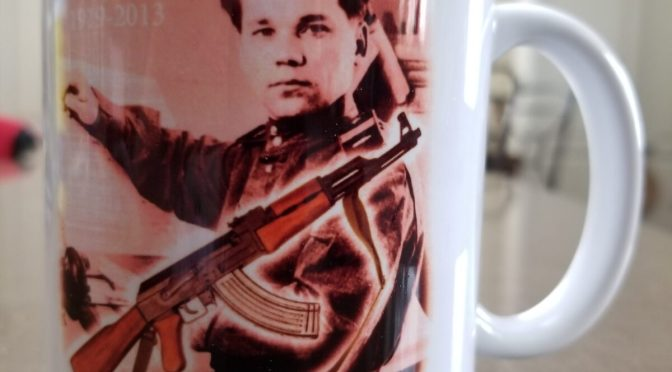 My Cool New Kalashnikov Coffee Cup