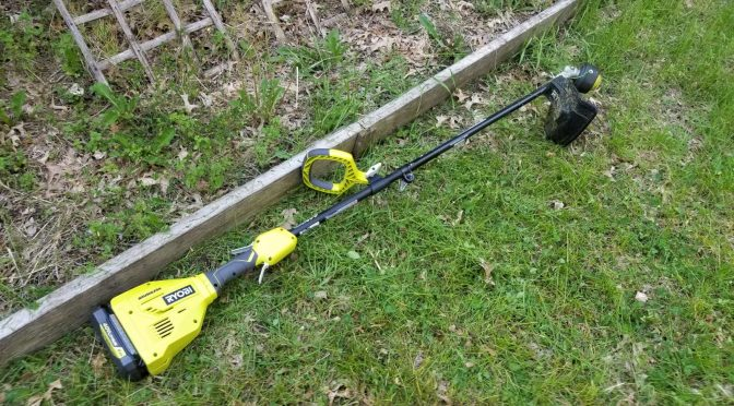 The Ryobi 40 Volt RY40230 Brushless String Trimmer and RYTIL66 Cultivator Are Amazing