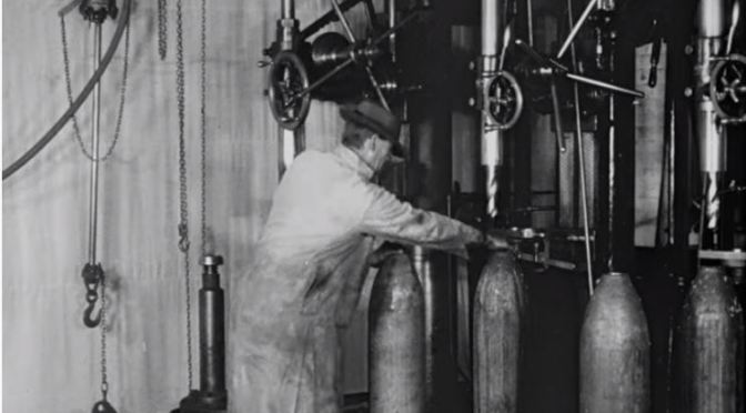 Video:  Manufacturing an Eight Inch High Explosive Howitzer Shell Circa 1917 – Shows a Ton of Machining Operations