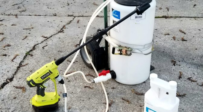 Still Nuking Mosquitoes and Ticks With Talstar and The Ryobi Power Washer