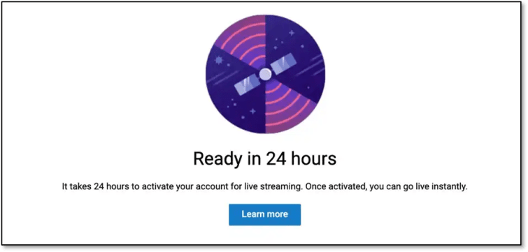 Live Streaming Activation.