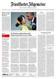 """Titelseite """"Frankfurter Allgemeine Zeitung"""" vom 20. November 2012"""