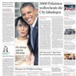 "Titelseite ""Hamburger Abendblatt"" vom 20. November 2012"