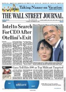 "Titelseite ""The Wall Street Journal"" vom 20. November 2012"