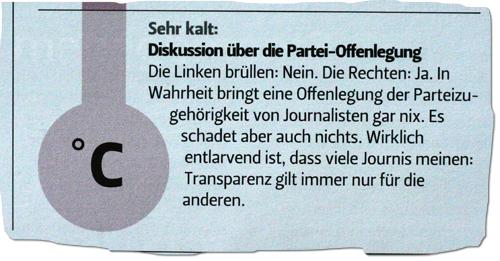 """Ausriss """"Schweizer Journalist"""""""