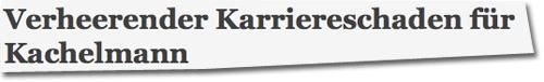 Verheerender Karriereschaden für Kachelmann