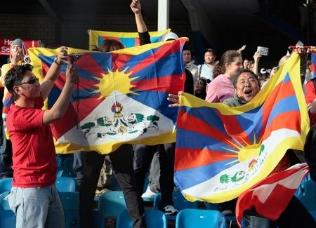 Free-Tibet-Flaggen