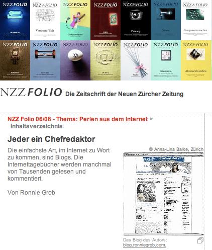 Artikel im NZZ Folio