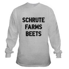 Schrute Farms Beets long-sleeve t-shirt