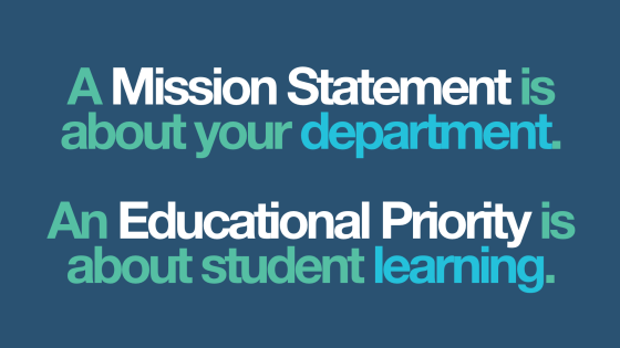 Mission Statement versus Edcuational Priority.001