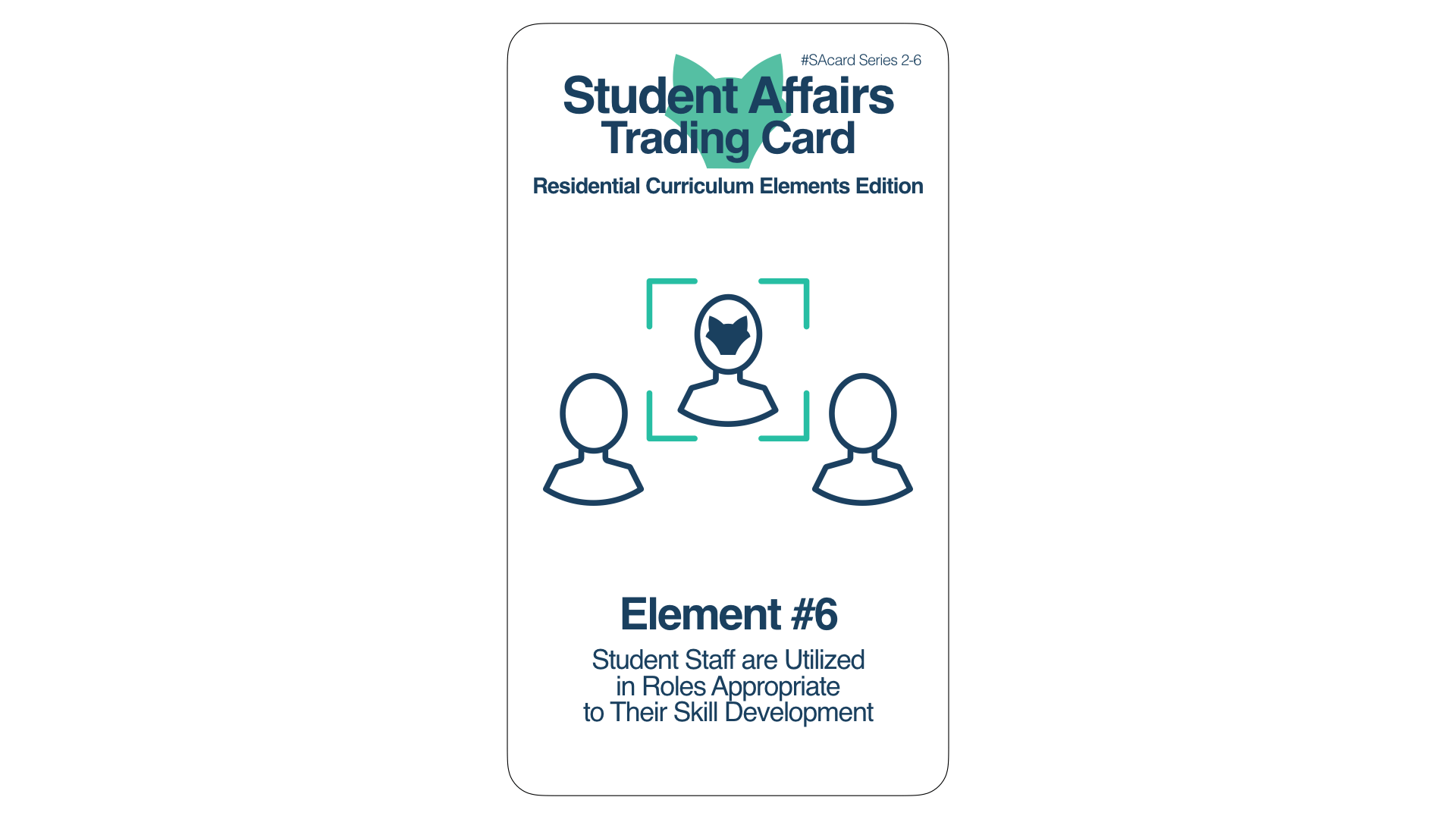 Student Affairs Trading Card 2-6: Residential Curriculum Element 6