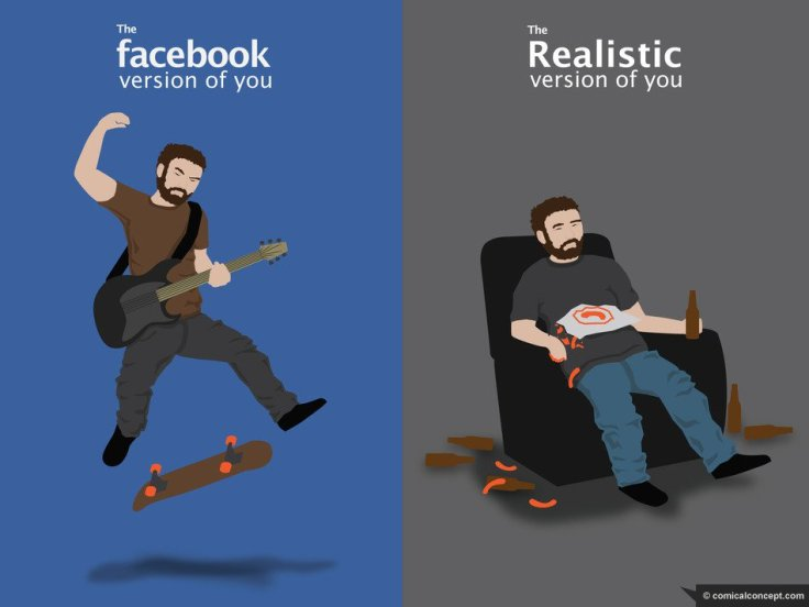 social media versus reality