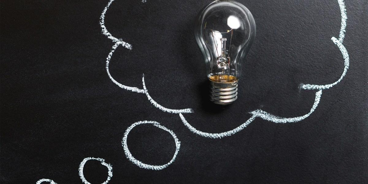 Glühlampe Symbol für Idee
