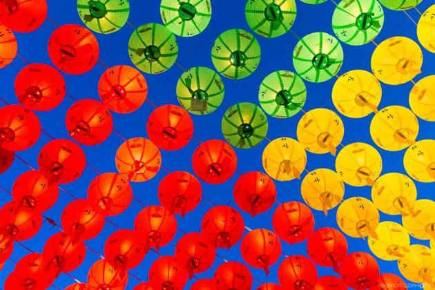Lanterns Up Above ISO 1600 Yonghwasa (용화사) Temple Tongyeong, South Korea