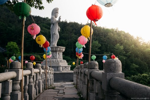 Late afternoon at the temple Singwangsa (신광사) Temple Geoje, South Korea
