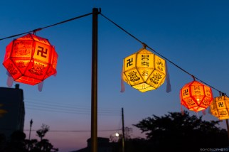 Lanterns at Dusk Seogwangsa (서광사) Temple Tongyeong, South Korea ISO 1000