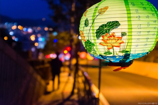 Lantern and City Lights ISO 5000 Tongyeong, South Korea