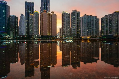 Busan Marine City Sunset-3