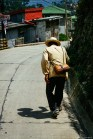 Elderly man walking the streets of Sagada