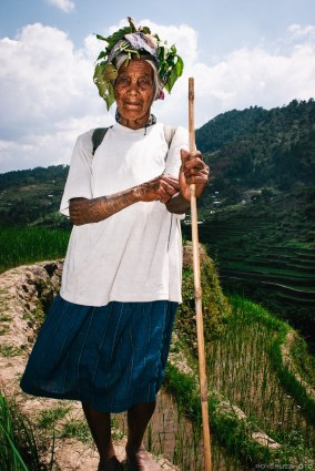 Bontoc tribe member with arm tattoos.