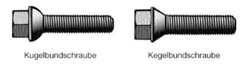 Unterschied zwischen Kugel- und Kegelbundschrauben