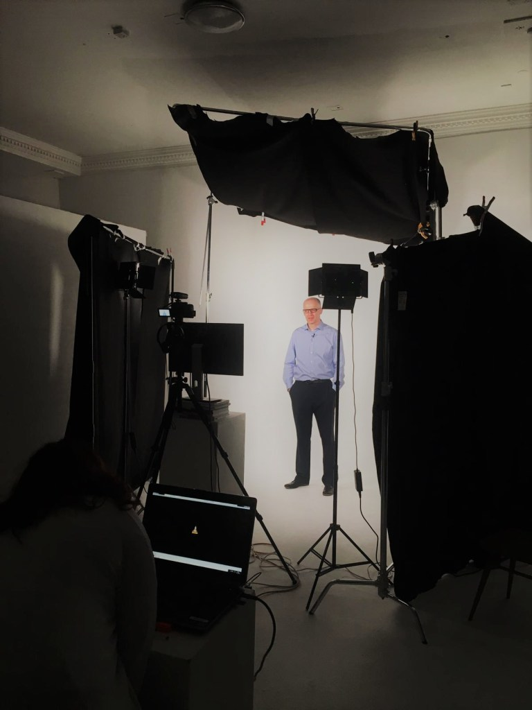 Behind the scenes, John Binns filming