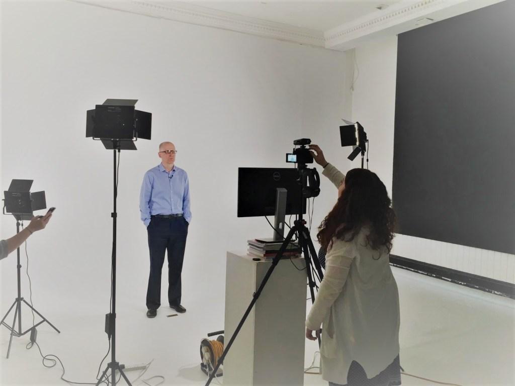 John Binns, behind the scene filming environmental content