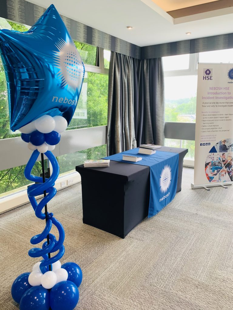 NEBOSH Balloon, and table where students could talk to NEBOSH and explore further courses