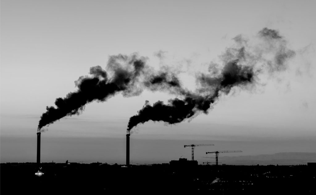 Image of bellowing smoke portraying air pollution, contaminants