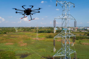 New technology - drone inspecting powerlines