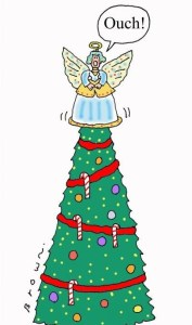 """Christmas tree angel - """"Ouch!"""""""