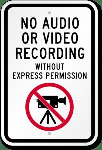 no-audio-video-recording