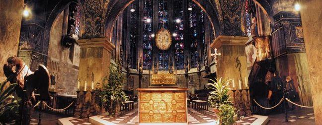 Катедралата в Аахен - интериор