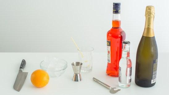 Необходимите продукти за приготвянето на Spritz