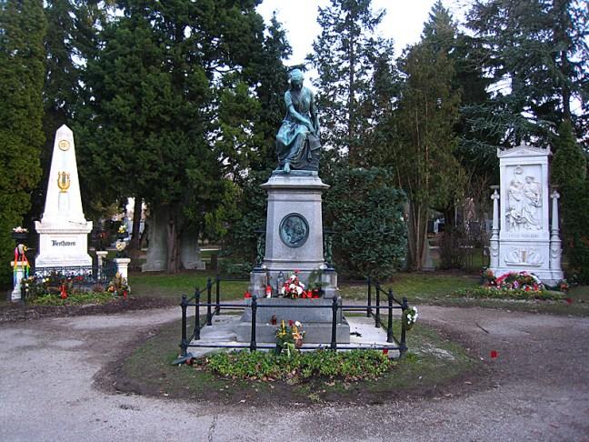 Предполагаемото място, където е погребан великият композитор.