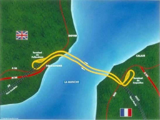 Карта на Eurotunnel