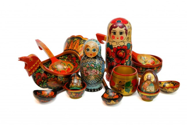 assorted-russian-wooden-toys-kitchen-utensils-ans-religious-objects-isolated