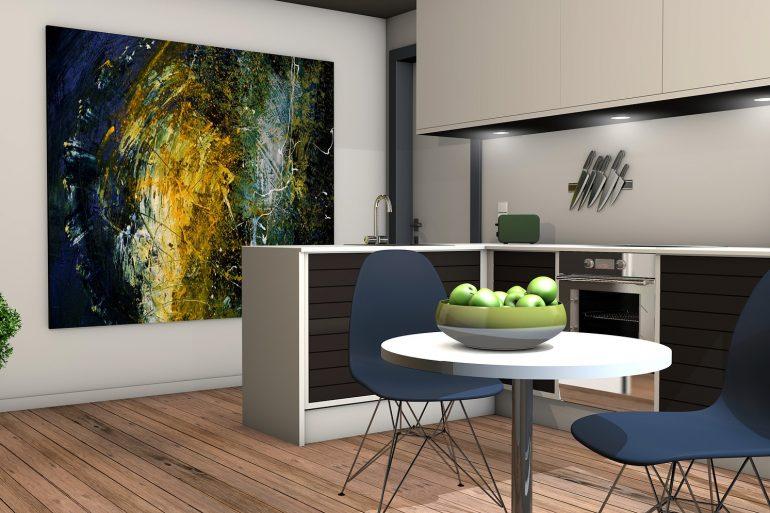 Cucina senza piastrelle come mantenere le pareti pulite