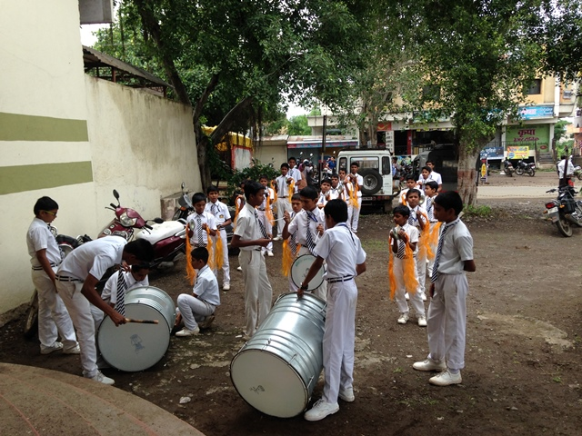 Student band at Krantisinh Nana Patil Lok Vidyapith
