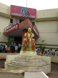 Statue of freedom fighter Krantisinh Nana Patil outside the school in his name