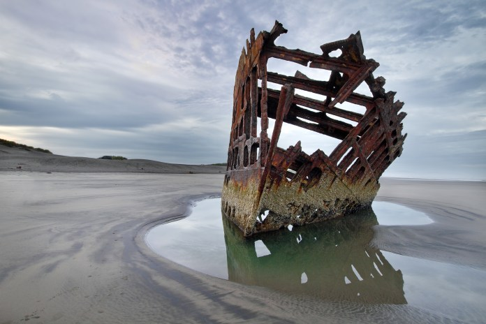Peter Iredale at Dawn