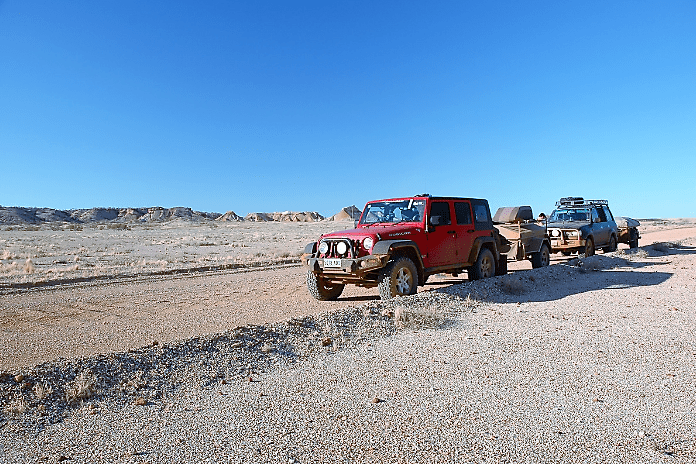 Jeep Overlanding with pop up camper