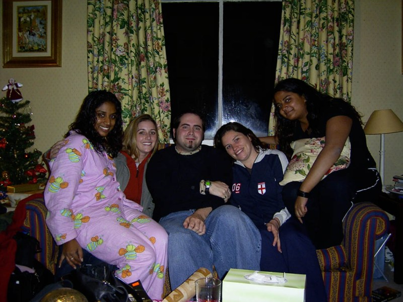 Alright, I look pretty goofy in this photo, but I'm surrounded by WOMEN! From Left to Right: Shev, Sarah, Me, Lauren and Maryann.