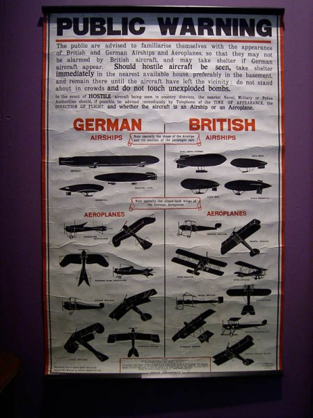 A poster in the Ipswich Museum from WWII on how to identify friend and foe in the air. (Cory, I figured you'd like this).