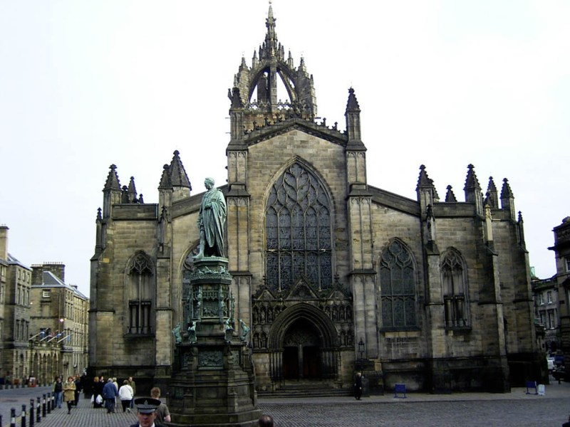 St. Giles Cathedral, I think. It was really big and really old.