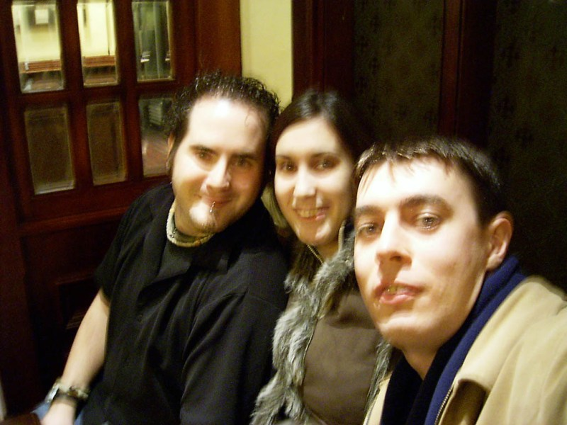 Me, Gemma and Simon. Yeah I know, it's a bit blurry, but so were we, so it all works out.