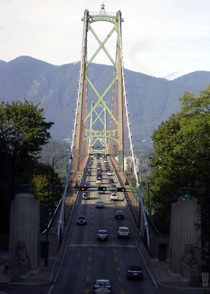 The 99a runs right through the park and on into North Van. I guess the Guinness Family owned all the land across the water and built the bridge to encourage people to buy their real-estate.